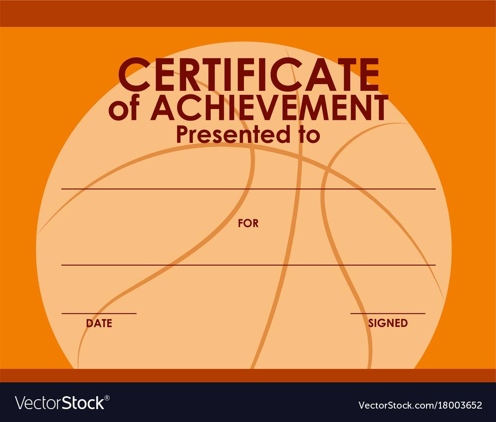 certificate of achievement template