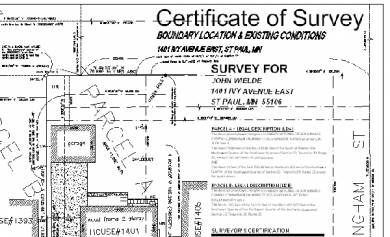 certificate of survey example
