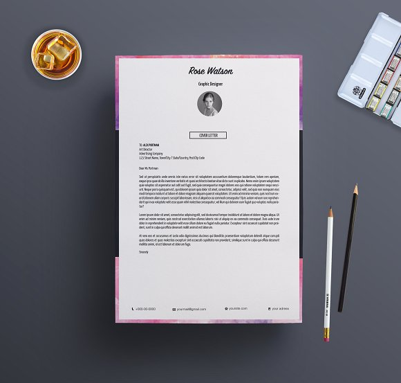 19 personal letterhead examples psd ai chic watercolor personal letterhead example spiritdancerdesigns Images