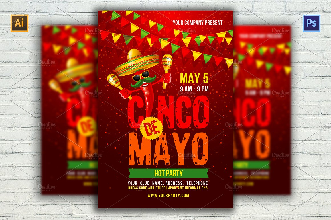 cinco de mayo party announcement example