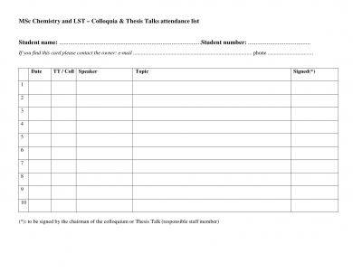 class attendance list form example1