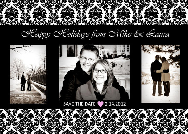 classic damask save the date example1