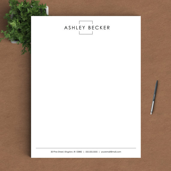 classic personal letterhead example