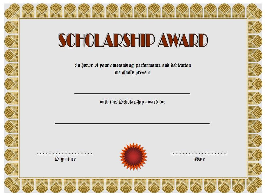 10+ Scholarship Award Certificate Examples - PDF, PSD, AI