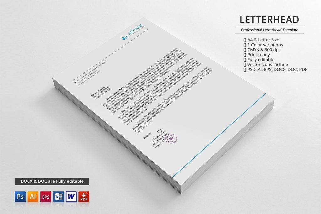 clean corporate letterhead