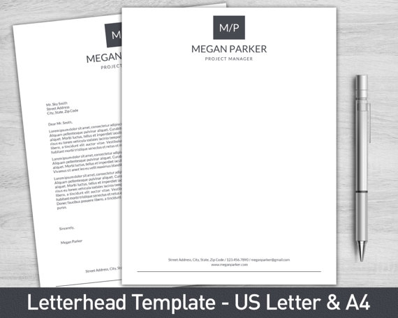 clean personal letterhead example