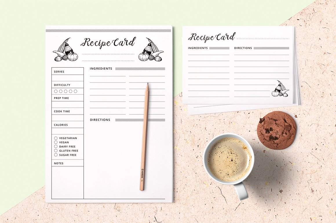 clean recipe postcard example