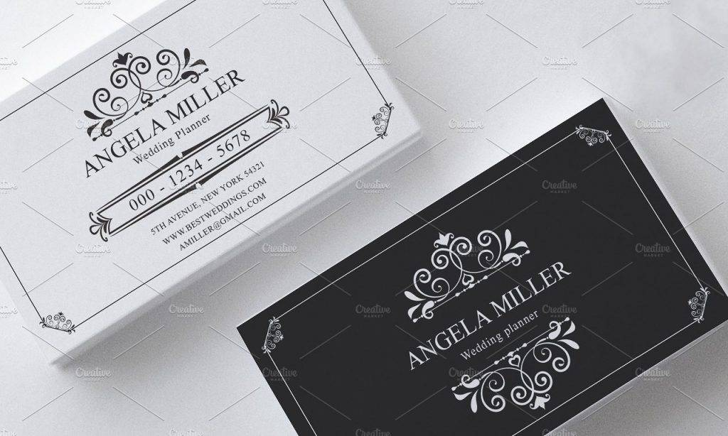 clean and elegant vintage business card example