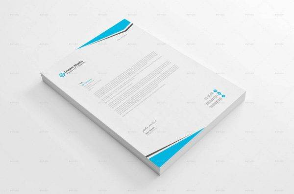 clean and formal letterhead example1