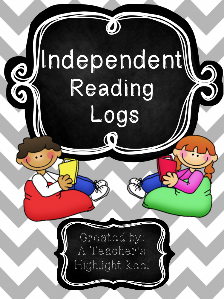colorful independent reading log example