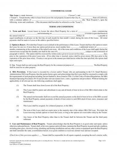 Commercial Lease Agreement Sample | 14 Commercial Lease Agreement Examples Pdf