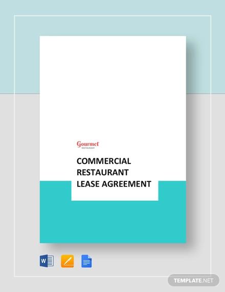 commercial restaurant lease agreement