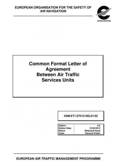 common format letter of agreement between