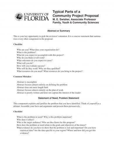 community development project proposal example
