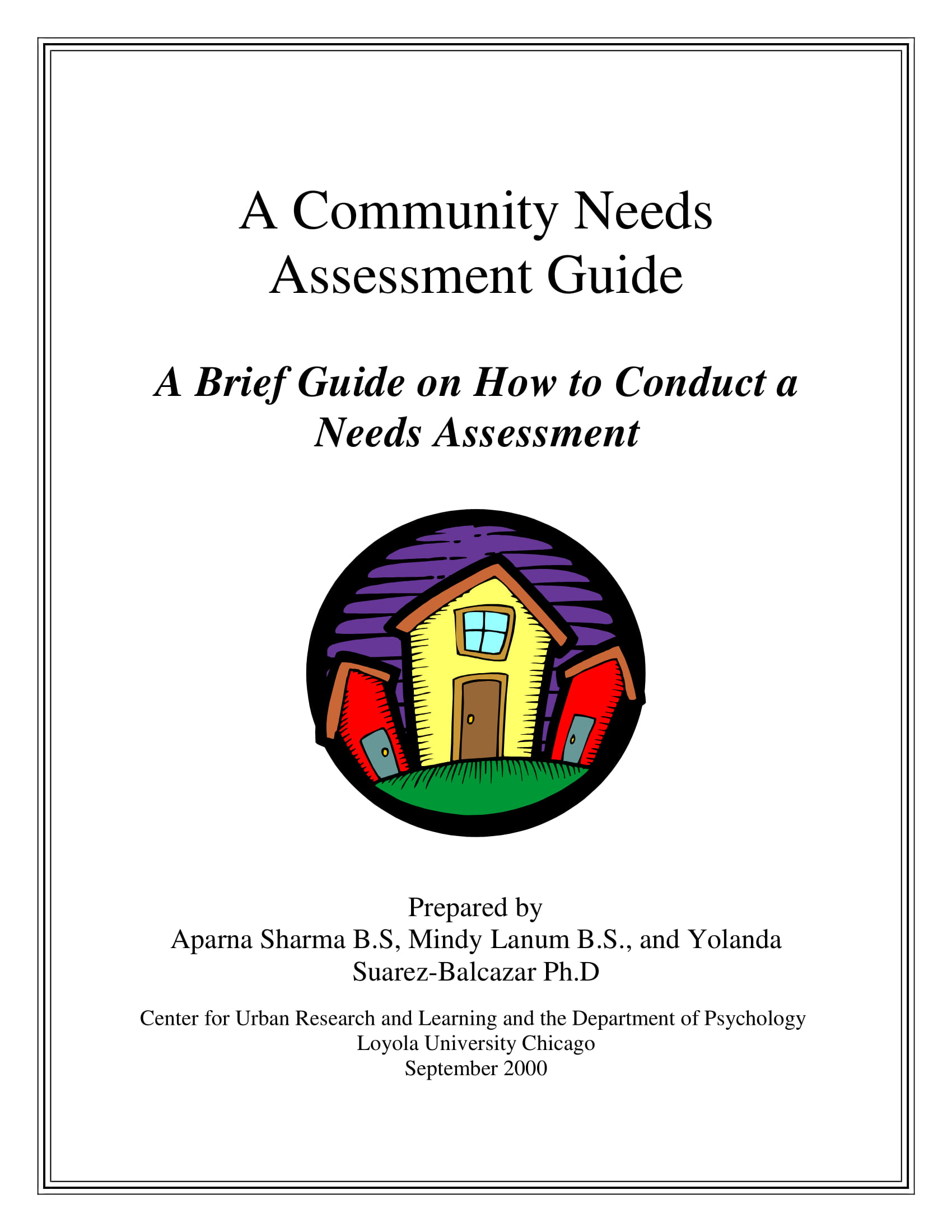 community needs assessment guide and example 01