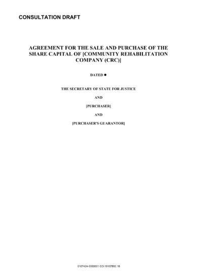 community rehability company stock sale agreement example1