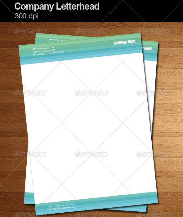 company letterhead vector example