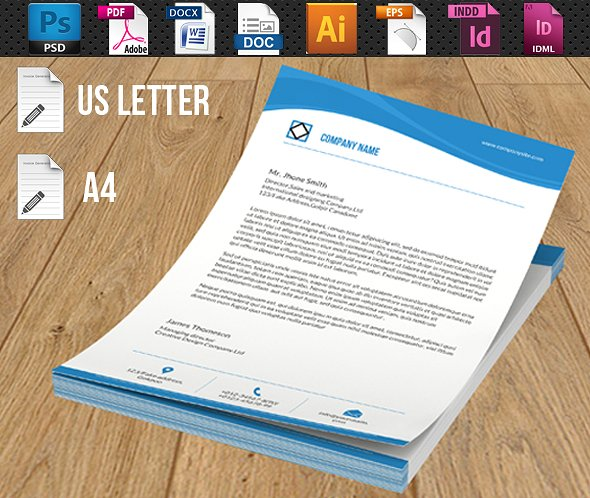 Psd Corporate Letterhead Template 000401: 20+ Company Letterhead Designs And Examples