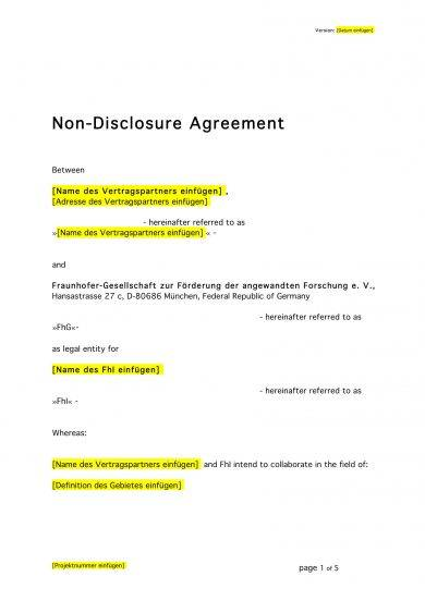 complete non disclosure agreement example
