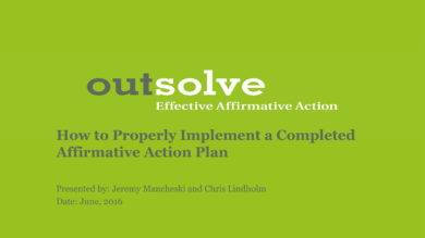completed affirmative action plan implementation example