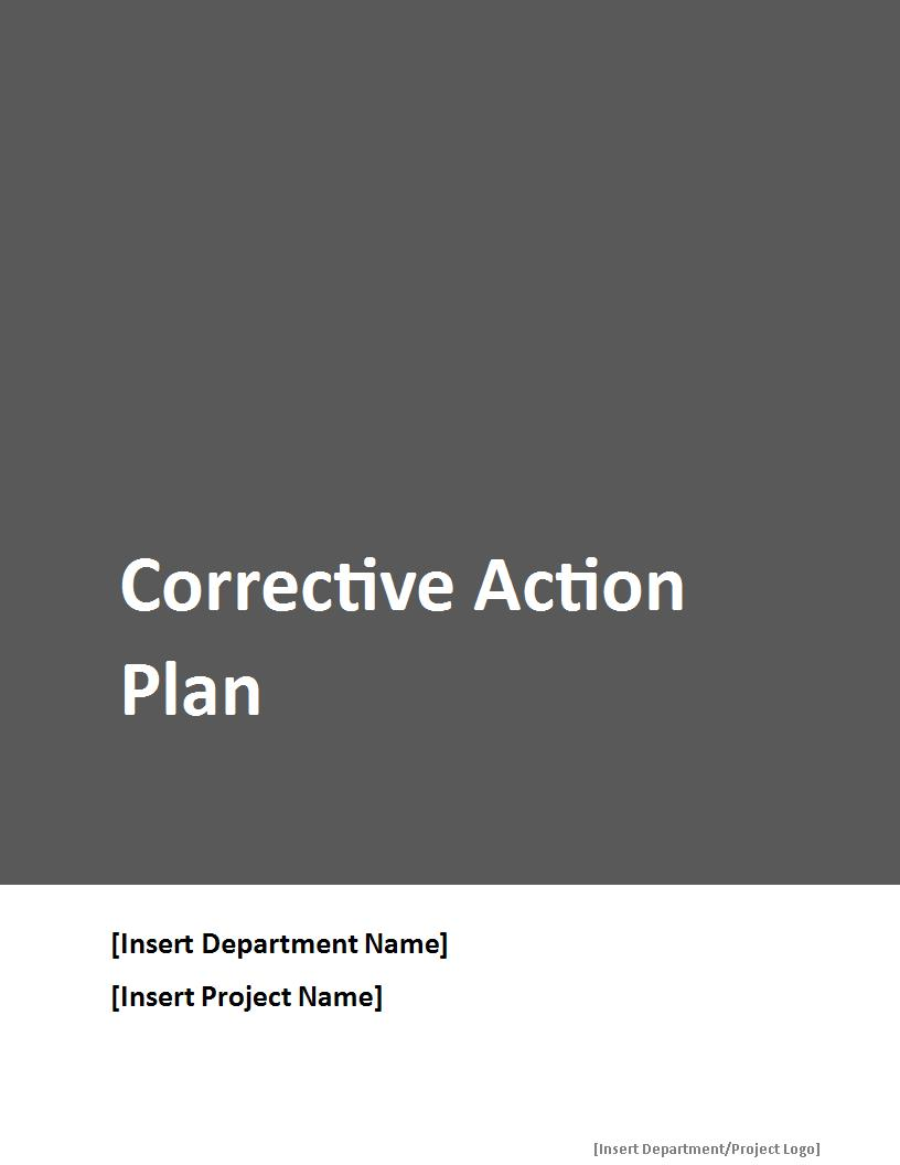 comprehensive corrective action plan example1