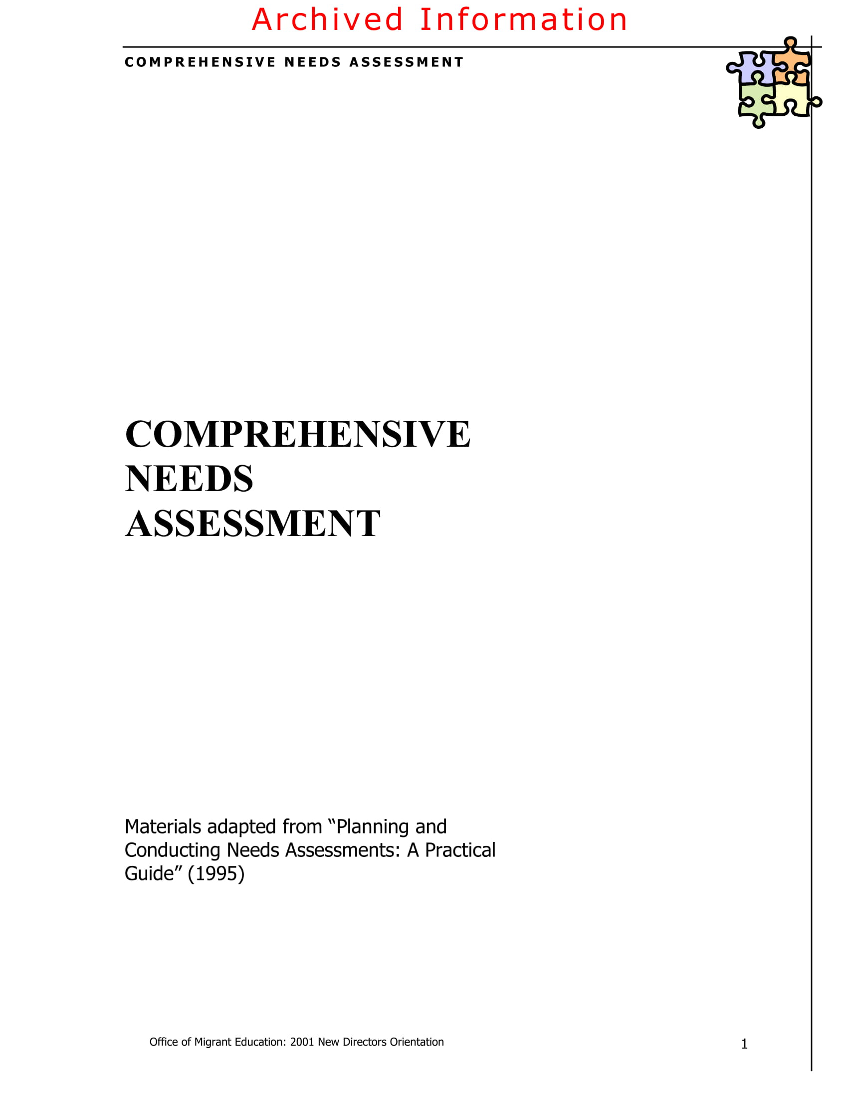 comprehensive needs assessment example 01