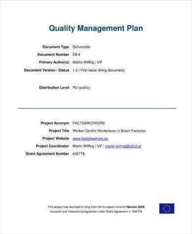 comprehensive quality management plan1