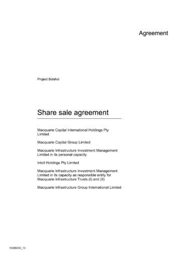 comprehensive stock sale agreement example1