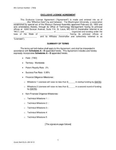 concise patent license agreement example1