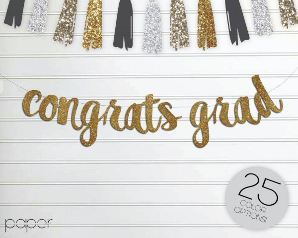congrats grad banner garland sign 2