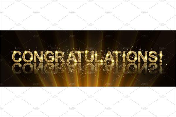 congratulations gold banner