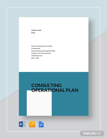 consulting operational plan template