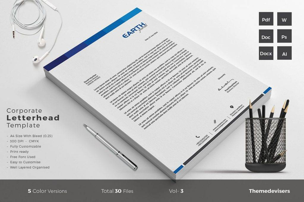 corporate letterhead template example