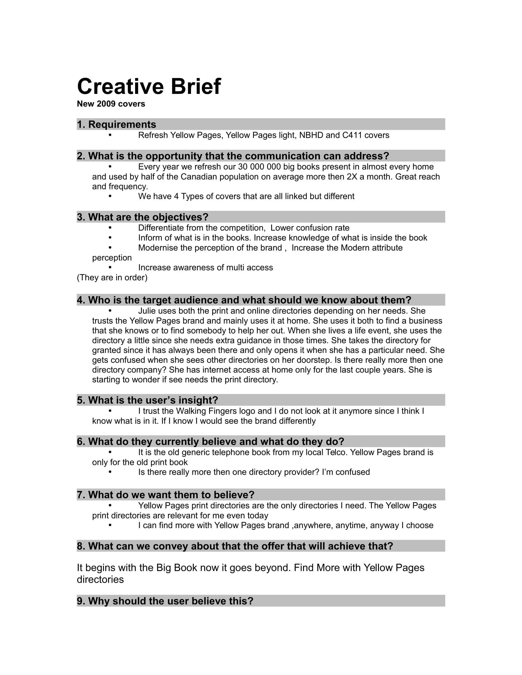 creative brief example