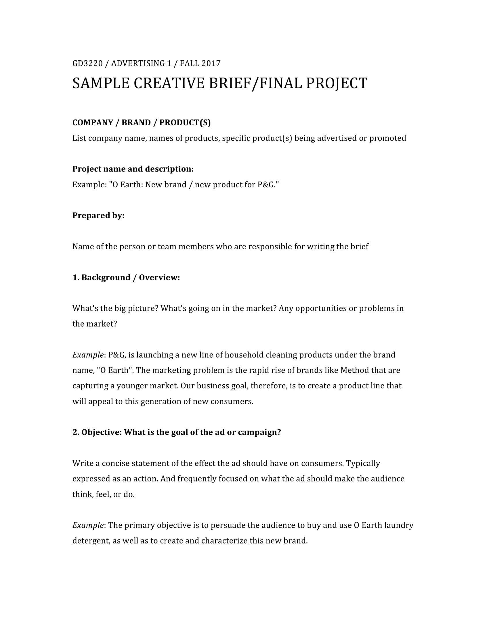 32+ Free Creative Brief Templates and Examples - PDF, DOC | Examples