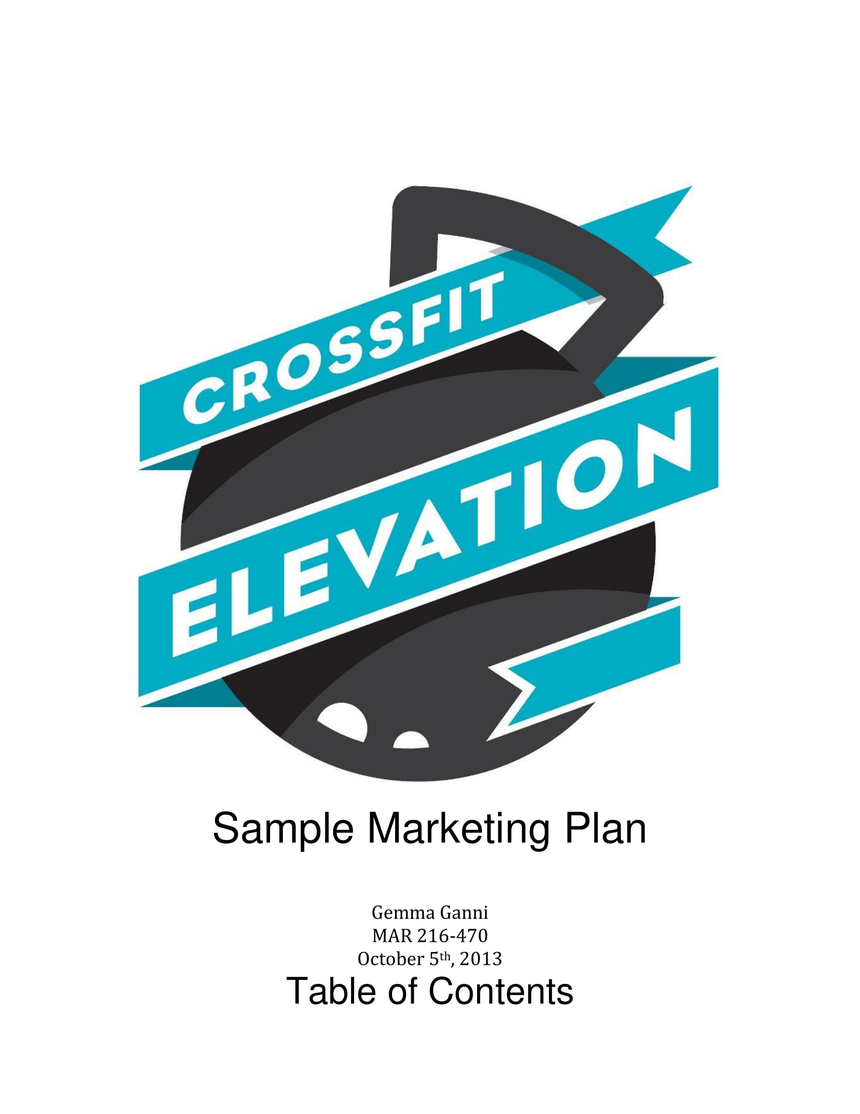 crossfit marketing action plan example