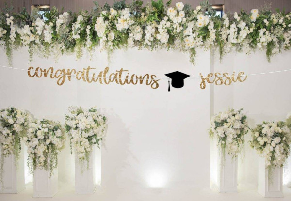 custom congratulations banner example