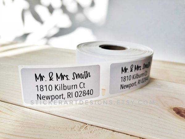 custom wedding rsvp label example1