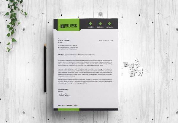 customizable business letterhead example1