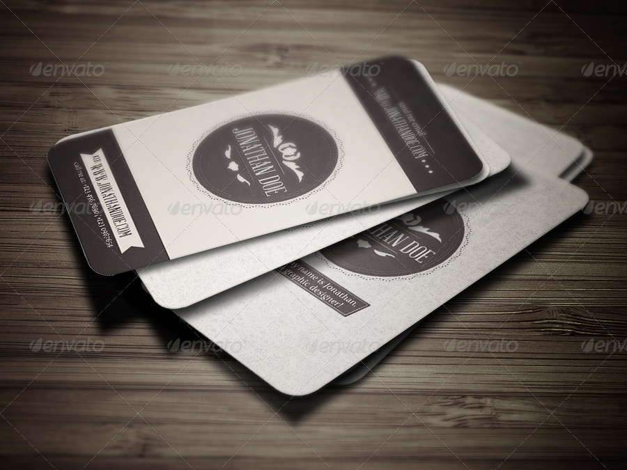 customizable vintage business card example