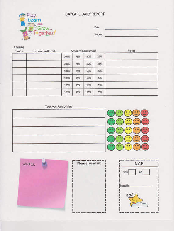 daycare report card example