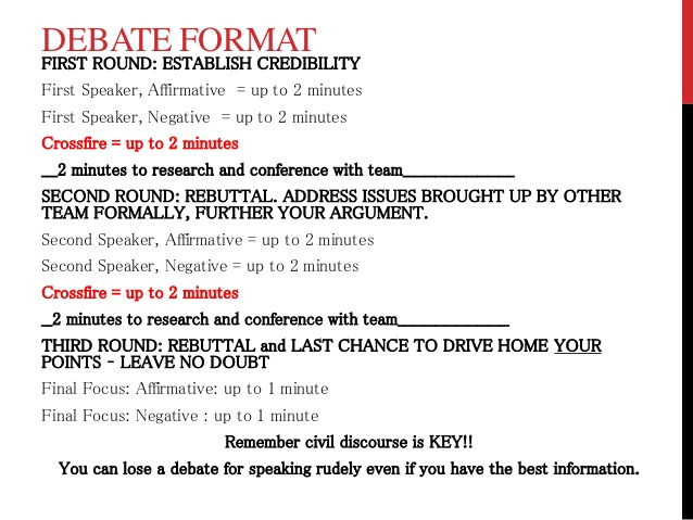 how to make a debate speech