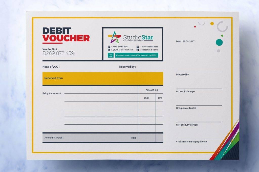 debit payment voucher example