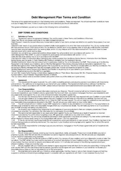 debt management plan terms and conditions example