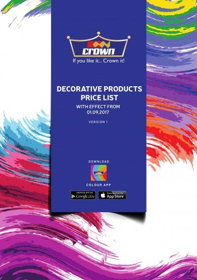 decorative products price list template example