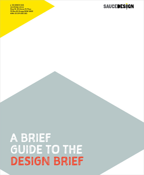 design brief guide and example
