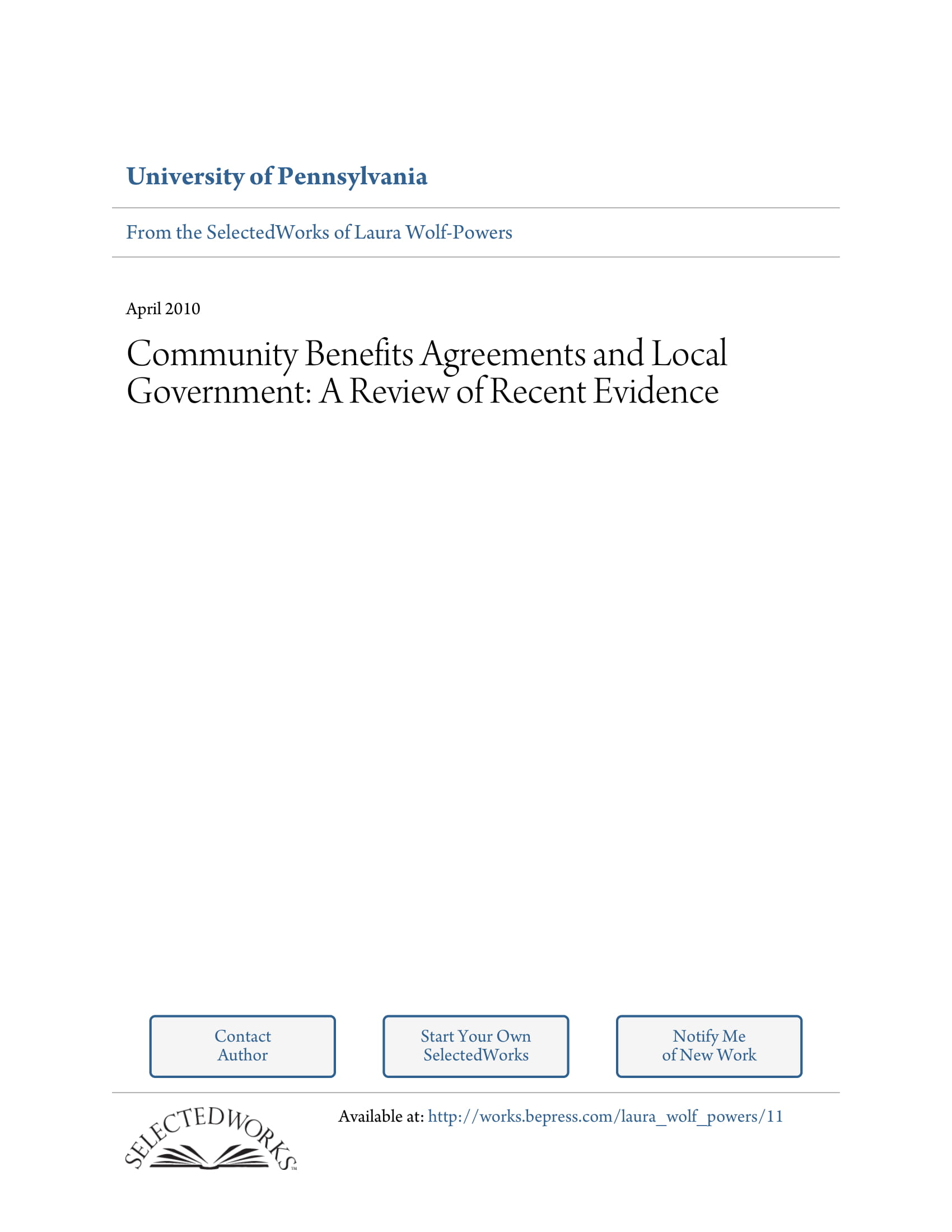 detailed community benefits agreement example