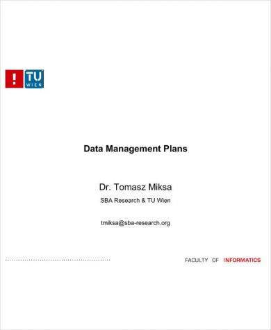 detailed data management plan example1