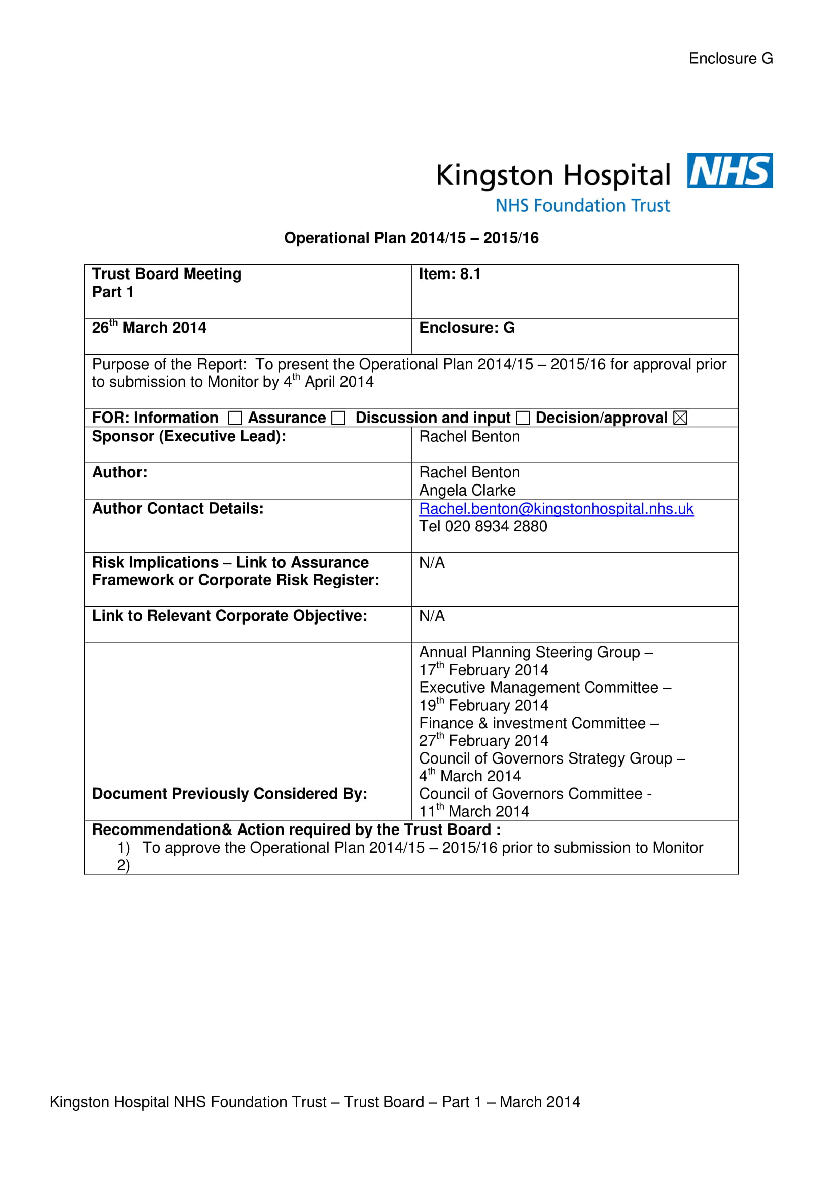 detailed hospital operational plan example 01