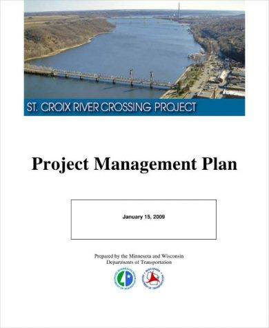 detailed project management plan example